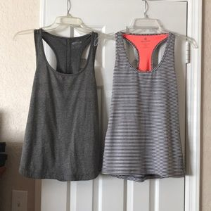 2 womens workout tops both size small
